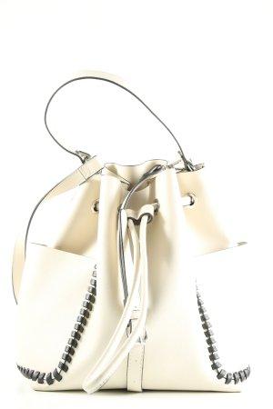 Zara Basic Umhängetasche creme-schwarz Casual-Look