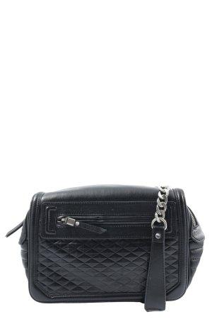 Zara Basic Umhängetasche schwarz Steppmuster Casual-Look
