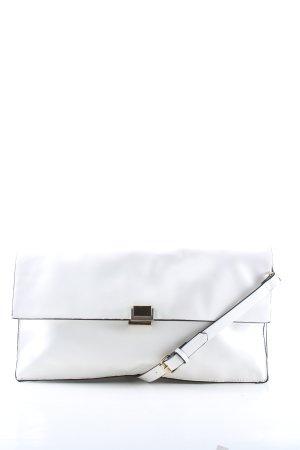 Zara Basic Umhängetasche weiß Casual-Look