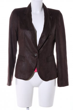 Zara Basic Blazer unisex marrone stile casual