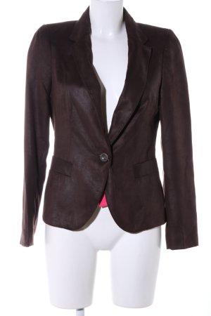 Zara Basic Unisex blazer bruin casual uitstraling