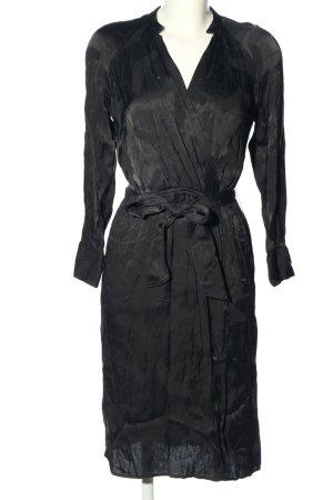 Zara Basic Asymetryczna sukienka czarny W stylu biznesowym