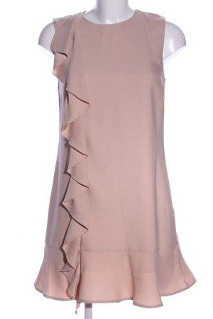Zara Basic Robe à volants rose chair style décontracté