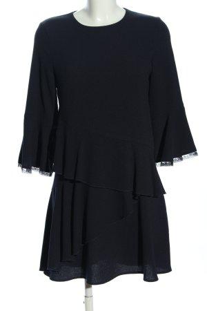 Zara Basic Volantkleid schwarz Elegant