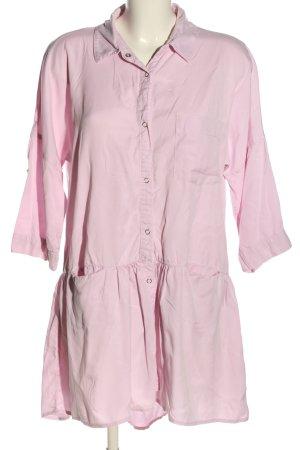 Zara Basic Sukienka z falbanami różowy W stylu casual