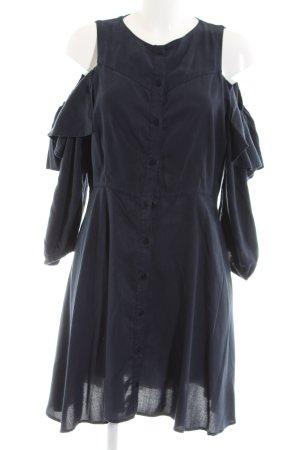 Zara Basic Flounce Dress blue casual look