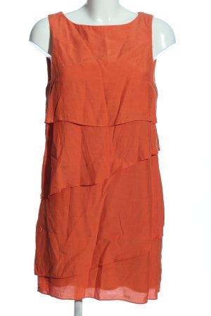 Zara Basic Abito a balze arancione chiaro elegante