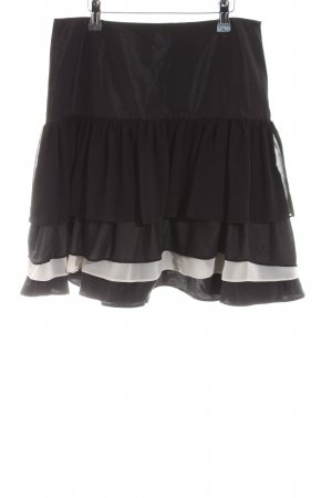 Zara Basic Flounce Skirt black-white casual look
