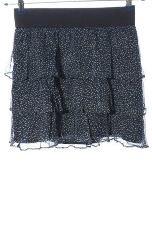 Zara Basic Spódnica z falbanami niebieski-w kolorze białej wełny