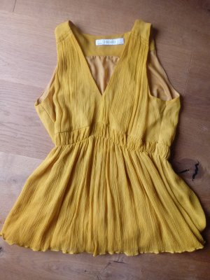 Zara Basic Top con balze giallo