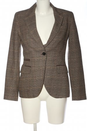Zara Basic Woven Twin Set brown-natural white check pattern business style