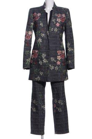 Zara Basic Woven Twin Set light grey allover print casual look