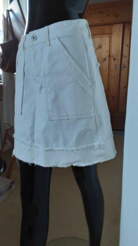 Zara Basic, weißer Jeansrock, Gr.XS