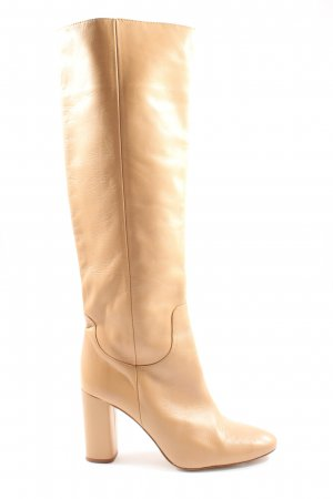 Zara Basic Botas de pantorrilla ancha marrón elegante
