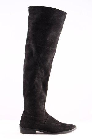 Zara Basic Bottes à tige large noir style d'affaires