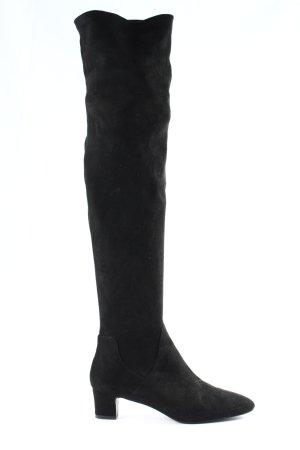 Zara Basic Wide Calf Boots black business style