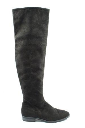 Zara Basic Bottes à tige large noir style décontracté