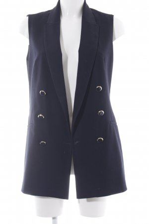 Zara Basic Reversible Vest dark blue navy look