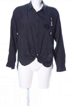 Zara Basic Wickel-Bluse schwarz Casual-Look