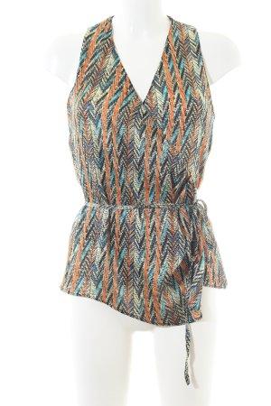 Zara Basic Wickel-Bluse Allover-Druck Business-Look
