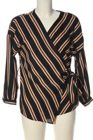Zara Basic Blusa cruzada estampado a rayas look casual