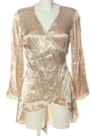 Zara Basic Blusa cruzada crema elegante