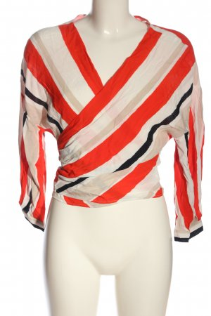 Zara Basic Blusa cruzada estampado repetido sobre toda la superficie elegante