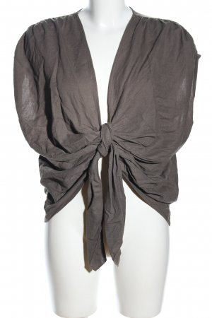 Zara Basic Wickel-Bluse braun Casual-Look