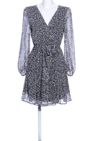 Zara Basic Robe portefeuille noir-blanc motif animal élégant