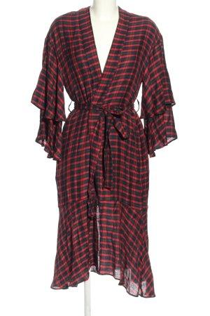 Zara Basic Vestido cruzado estampado a cuadros look casual