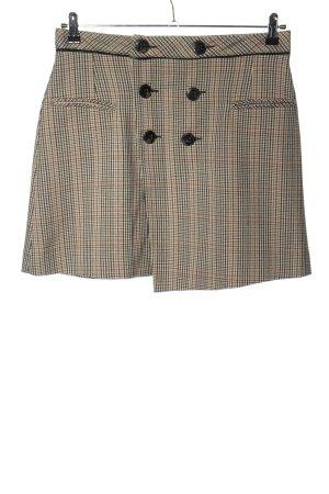 Zara Basic Wraparound Skirt check pattern casual look
