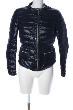 Zara Basic Coupe-vent noir motif de courtepointe style décontracté