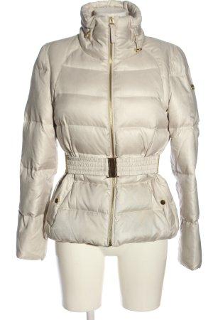 Zara Basic Winterjacke wollweiß Steppmuster Casual-Look