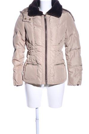 Zara Basic Winterjacke wollweiß Casual-Look