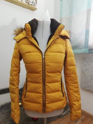 Zara Basic Winterjacke Fell Curry Gr. XS
