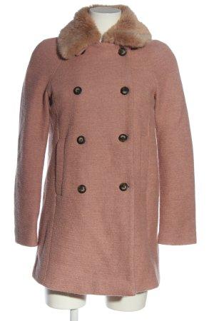 Zara Basic Winter Coat pink casual look