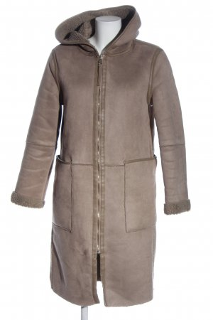 Zara Basic Wintermantel braun Casual-Look