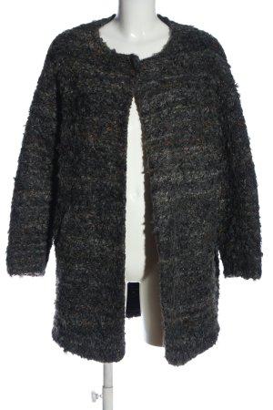 Zara Basic Winter Coat black-light grey casual look