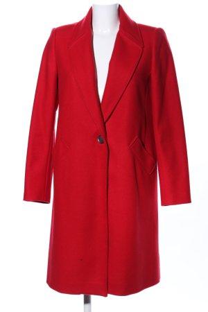 Zara Basic Cappotto invernale rosso stile casual