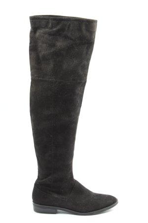 Zara Basic Stivale invernale nero stile casual