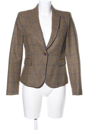 Zara Basic Blazer in lana bronzo-blu motivo a quadri stile professionale
