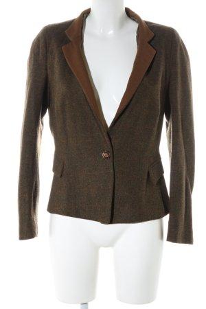 Zara Basic Blazer de lana color bronce-caqui estampado a cuadros