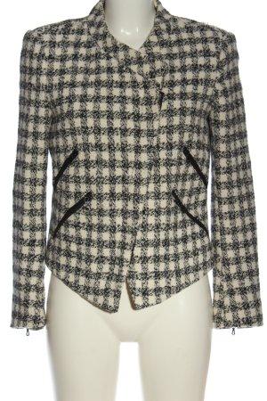 Zara Basic Chaqueta de lana negro-blanco puro look casual