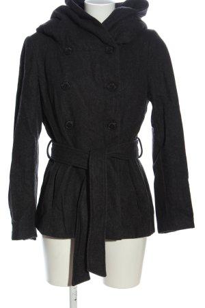 Zara Basic Wollmantel schwarz Casual-Look