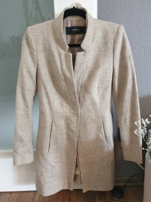 Zara Basic Cappotto in lana beige