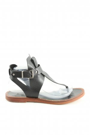 Zara Basic Sandalo toe-post nero stile casual