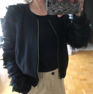 Zara Basic Blouson nero-sabbia Poliestere