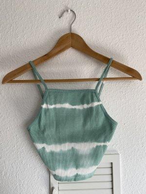 Zara Batik Crop top mint neu M