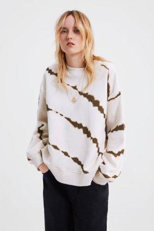 Zara Batik Oversized Sweatshirt Pullover Herbst Gr. S/M neuwertig Influencer Blogger