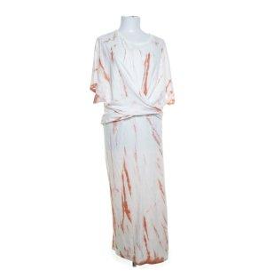 Zara Batik Sommerkleid M weiß Orange
